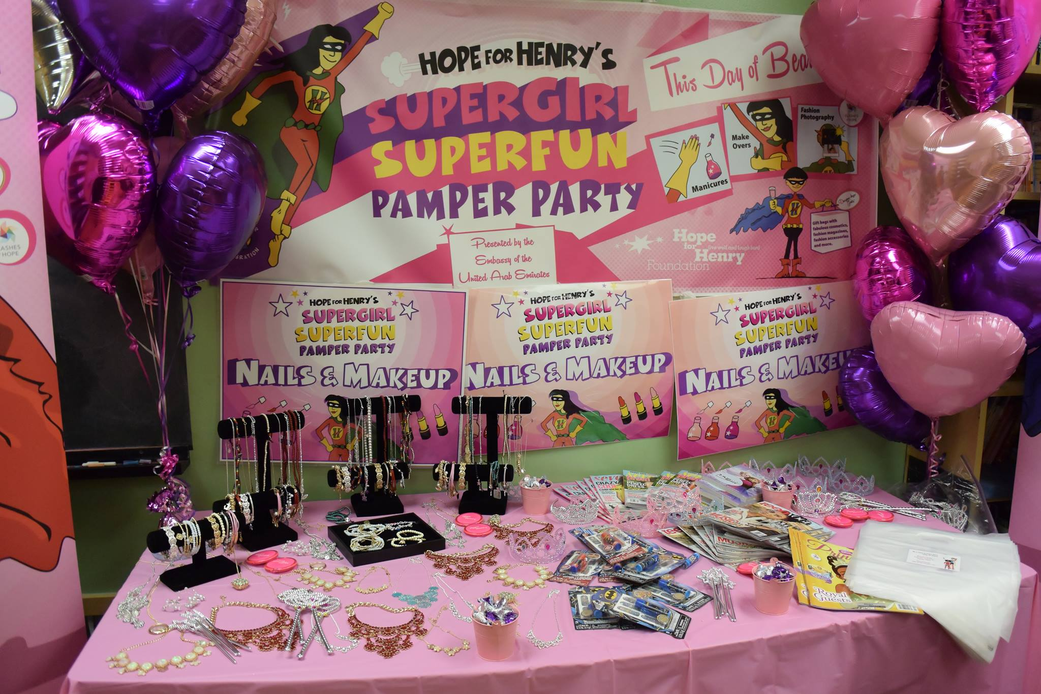 Hope for Henry's SuperGirl SuperFun Pamper Party Featured on WJLA-TV