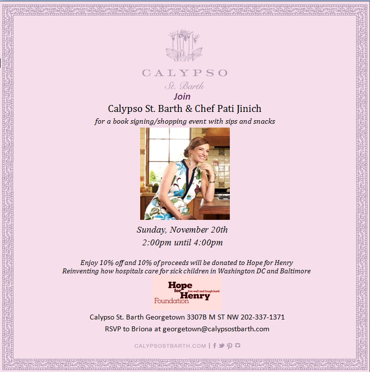 Chef Pati Jinich to Host Book Signing/Shopping Event at Calypso to Benefit Hope for Henry