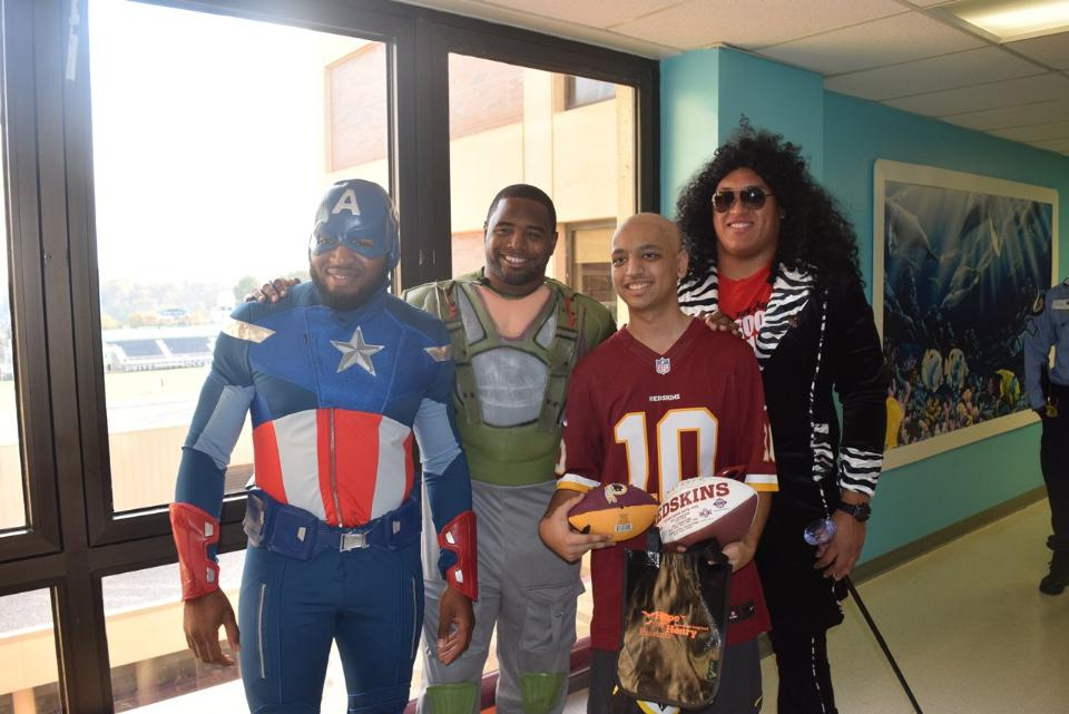 Washington Redskins Charitable Foundation Join Hope for Henry at a Halloween Party at Georgetown Hospital