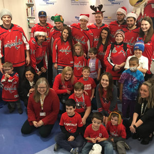 The Washington Capitals Join Pediatric Patients for Holiday Fun