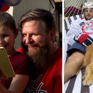 Nic Dowd surprises nine-year-old girl diagnosed with cancer earlier in the year